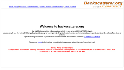 Screenshot of http://www.backscatterer.org/