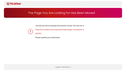 Screenshot of https://kc.mcafee.com/corporate/index?page=content&id=KB53783
